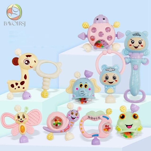10 pc/lot Aprendizaje Temprano juguetes de Montessori dentición educativos cuna móviles juguete mordedor bebé para las niñas Waldorf juguete T0402
