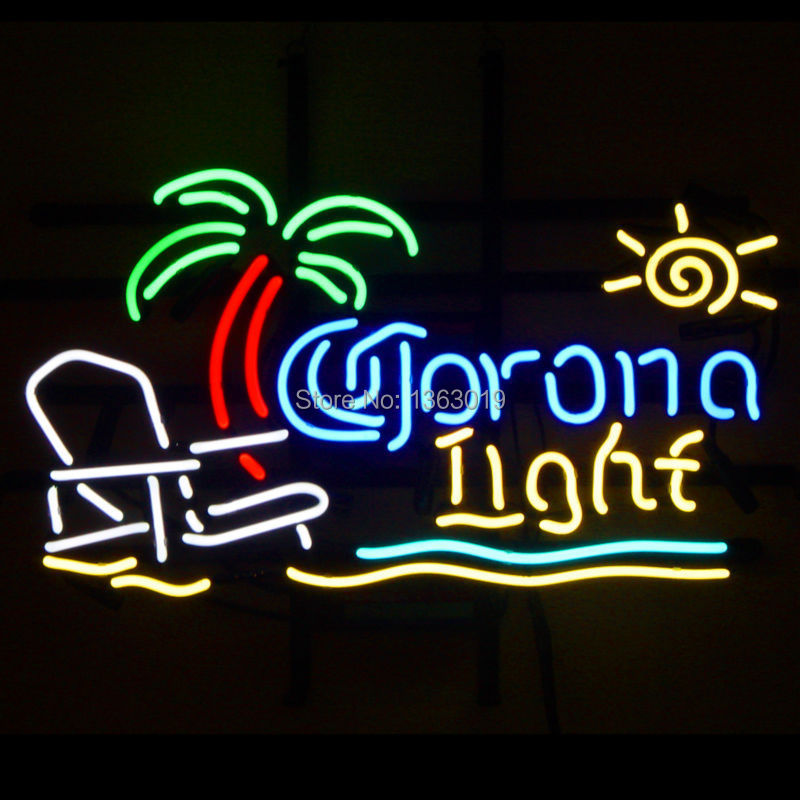 Revolutionary Neon Super Bright Corona Light Beach Chair Palm Tree Beer Sign 19x15 Available Multiple Sizes In Advertising Lights From