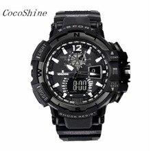 CocoShine A-999 Men's Rubber Band LED Digital Sports Waterproof Diving Quartz Wrist Watch wholesale Free shipping