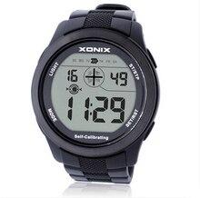 XONIX Auto Calibración de Sincronización de Internet Hombres Relojes Deportivos A Prueba de agua 100 m Reloj Digital de Natación Buceo Reloj Montre Homme