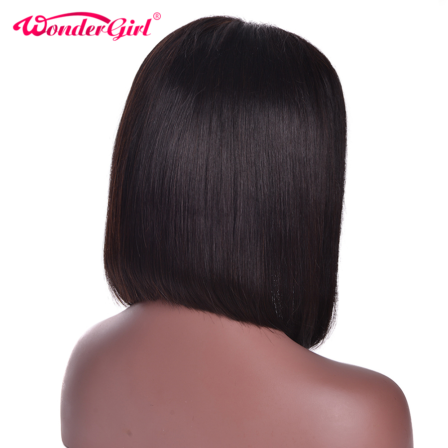 Indian Straight Human Hair Bob Wigs Pre Plucked 150% Density 12x 6 Short Bob Wig Lace Front Bob Wigs Wonder girl Non Remy