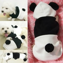 2016 New Soft Material Panda Modeling Hoodie Costume Dog Clothes Pet  Coat Puppy Cat Costumes Warm Winter