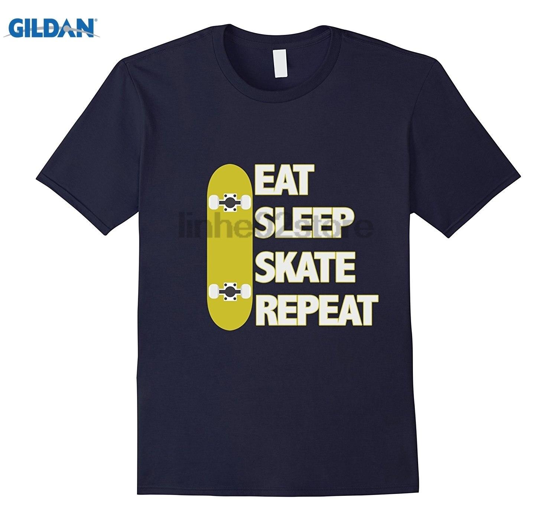 GILDAN Eat, Sleep, Skate, Repeat T Shirt Hot Womens T-shirt