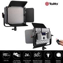 Tolifo GK-600MB 2.4 г Беспроводной Дистанционное управление LED Video Studio света Би-Цвет и затемнения w/Шторки для фотографии интервью