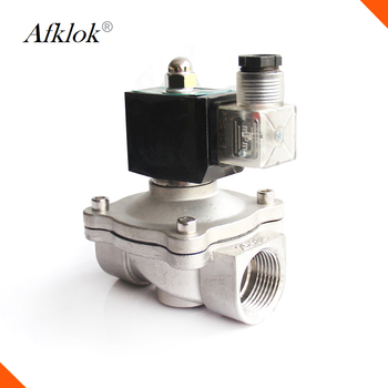 2 way DN40 NPT 1.5 inch natural gas solenoid valve Stainless steel normally closed AC220V DC24V DC12V