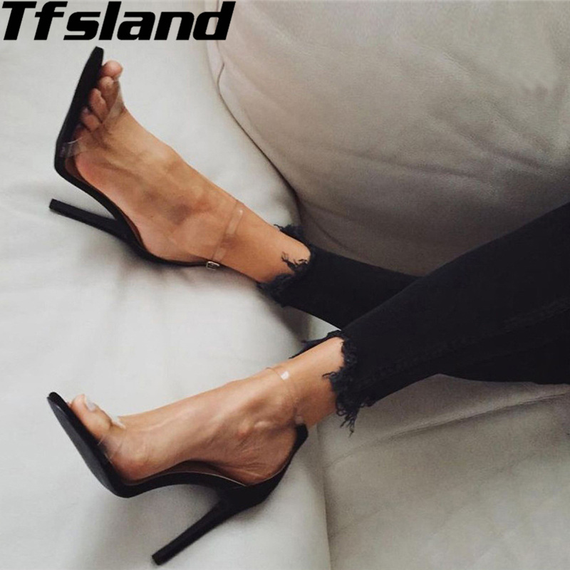 New Women PVC Suede Platform Sandals Super High Heels Waterproof Shoes Female Transparent Crystal Wedding Walking Shoes Sneakers