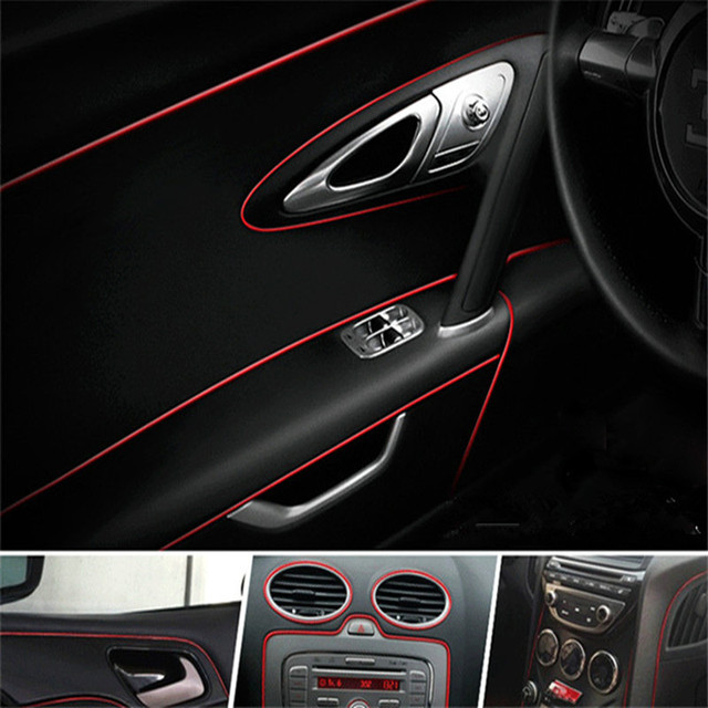 5m Car Styling 3D Sticker The Car Interior Decoration 4 Electroplating  Color Stripe Coating Decorative