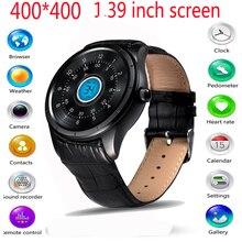 2016ใหม่q3 smart watch 400*400 1.39นิ้วamoledแสดงandroid os h eart rate monitor fitnesstracker 3กรัมwifi s mart w atchโทรศัพท์