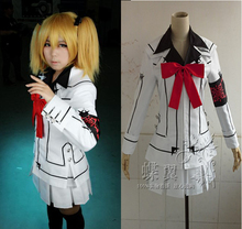 Anime Vampire Knight Noche Clase Chica Cosplay Kurosu mujeres Yuuki Uniforme Traje Completo Set Coat + Shirt + Tie + falda + Brazalete