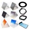 10 in1 49 52 55 58 62 67 72 77 82 мм переходное кольцо + градиент фильтр + держатель фильтра сумка чехол + бленда и держатель для Cokin P