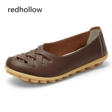 Women Flats Genuine Leather Shoes Soft Woman Loafers Slip-On Female Flat Moccasins Ladies Driving Shoes Cut-Outs Mother Footwear цены онлайн
