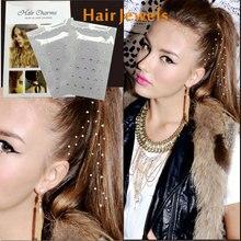 2 шт./упак. волос Подвески волос Charmsies шикарные волосы драгоценный камень Стикеры можно Палочки из разных кристаллы или драгоценные Камни свободно