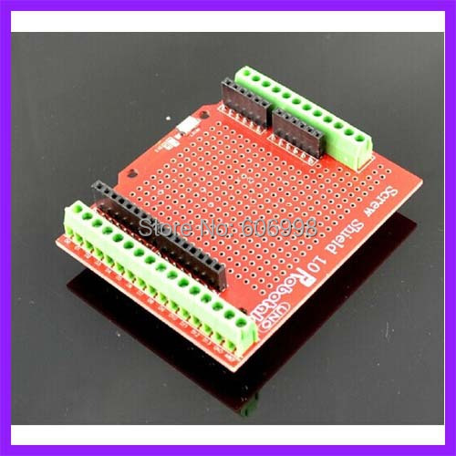 Tarjeta de expansión Terminal prototype Proto Shield Tornillo Ensamblado Para Arduino