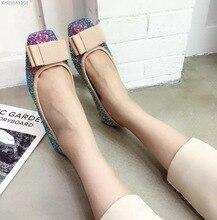 ตารางหัวรองเท้าแบนสีฟ้าสีเทาโบว์G Litterผู้หญิงเตี้ยความสูงที่เพิ่มขึ้น2เซนติเมตรบัลเล่ต์แฟลตC Haussures B Allerine F Emme