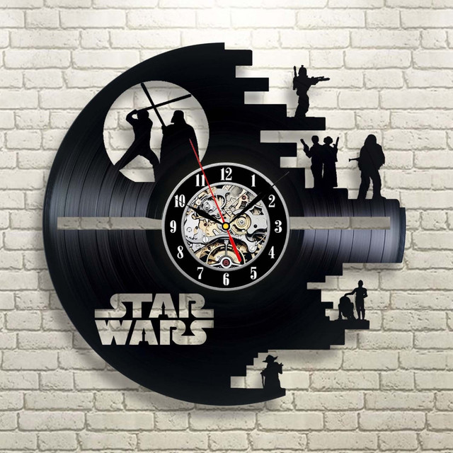 Home Living Vinyl LP Record CD Wall Clock 3D Modern Design Hanging Watches for Home Decoration 2