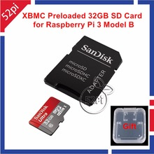 32GB Class 10 48MB/s SD Card Preinstalled with Kodi XBMC OSMC for Raspberry Pi 3 Model B