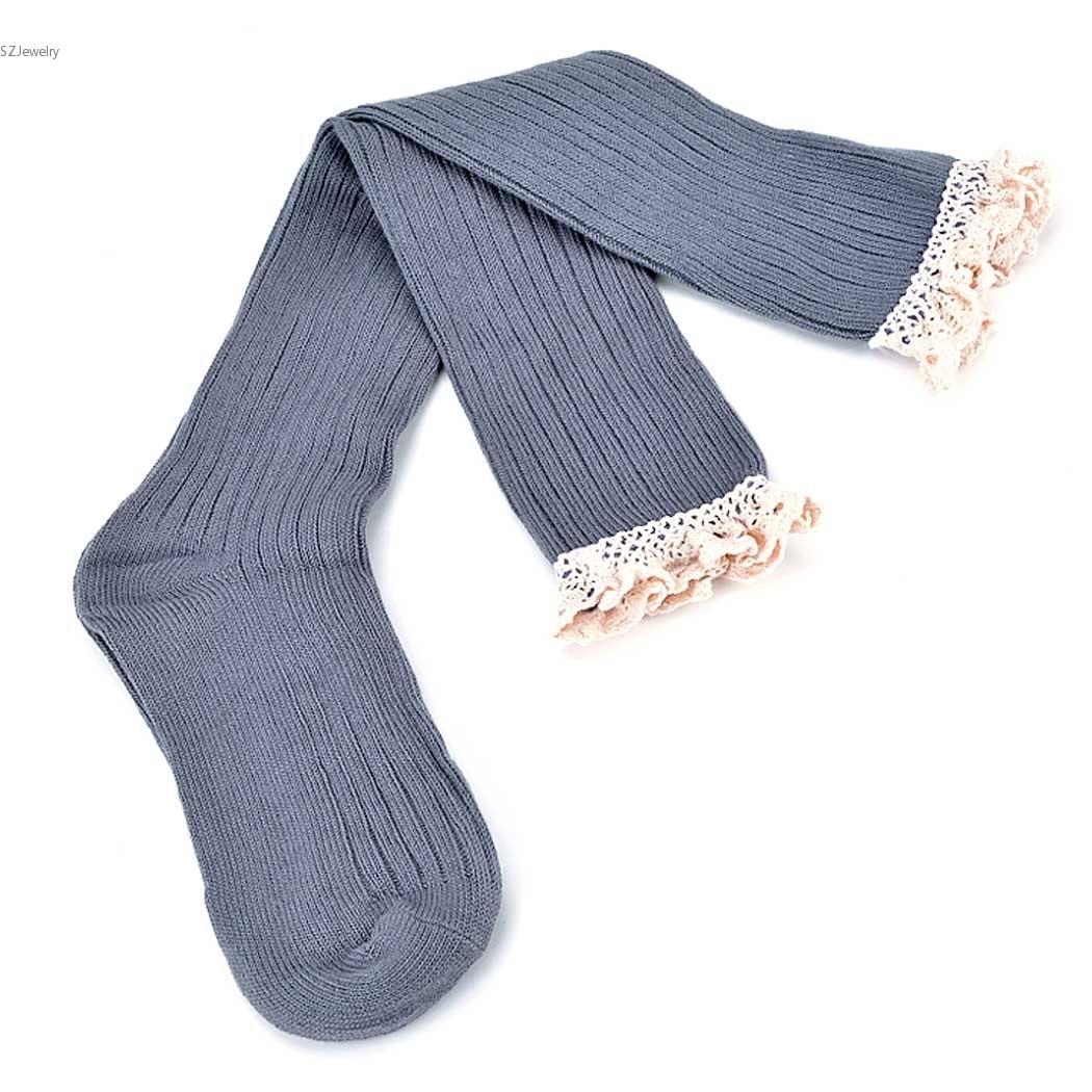Calcetines Largos de Invierno Crochet Arco Sobre la Rodilla ...