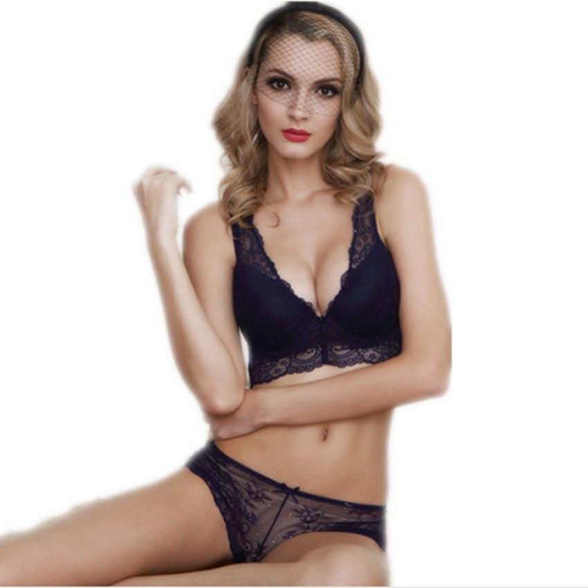 915442e57512b0 US $11.16 38% OFF|Heißer Verkauf Mode Sexy Bh Set dessous victoria frauen  spitze sexy unterwäsche pack bauch curl cheeky höschen bh Kleidung set in  ...