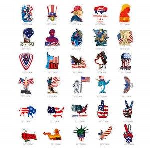 Image 4 - Наклейки и наклейки на автомобиль, американский флаг США, 100 шт.