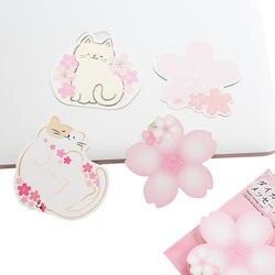 12 упаковок/партия нежный розовый цвет вишни и кошки памятки-стикеры сообщение этикетка закладки для блокнота Оптовая продажа