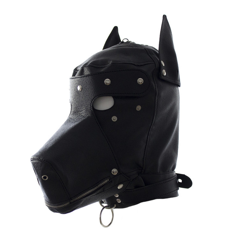 Adult games cosplay horse headgear leather bondage bdsm fetish slave blindfold mask cap head restraints hood sex toys products