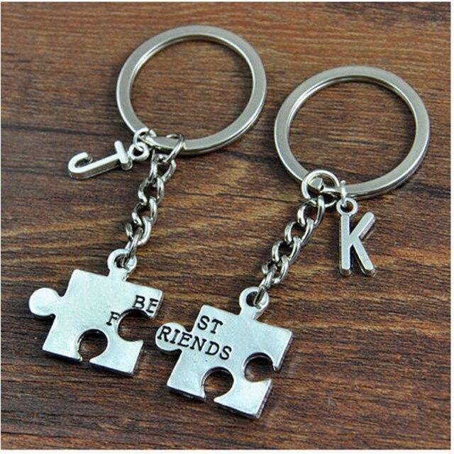 6f487852844e Novo Nome Personalizado Casais chaveiros llaveros Chaveiro Para Os Amantes  do Par Chaveiro, Personalizado Inicial