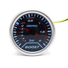 "Cnspeed 2 ""52 мм 12 В Авто Turbo Boost-1 ~ 2 бар дым объектив Turbo давление датчик белый свет"
