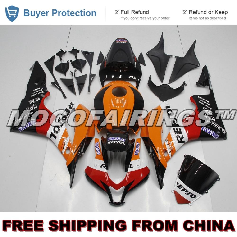 ABS Plastic Fairings Cowl Bodywork Kit for 2007-2008 Honda CBR600RR Repsol