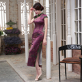 Top Quality Women Cheongsam Classic Gambiered Canton Gauze China Dress Retro Chinese Style Qipao Long Cheongsam Daily Dress