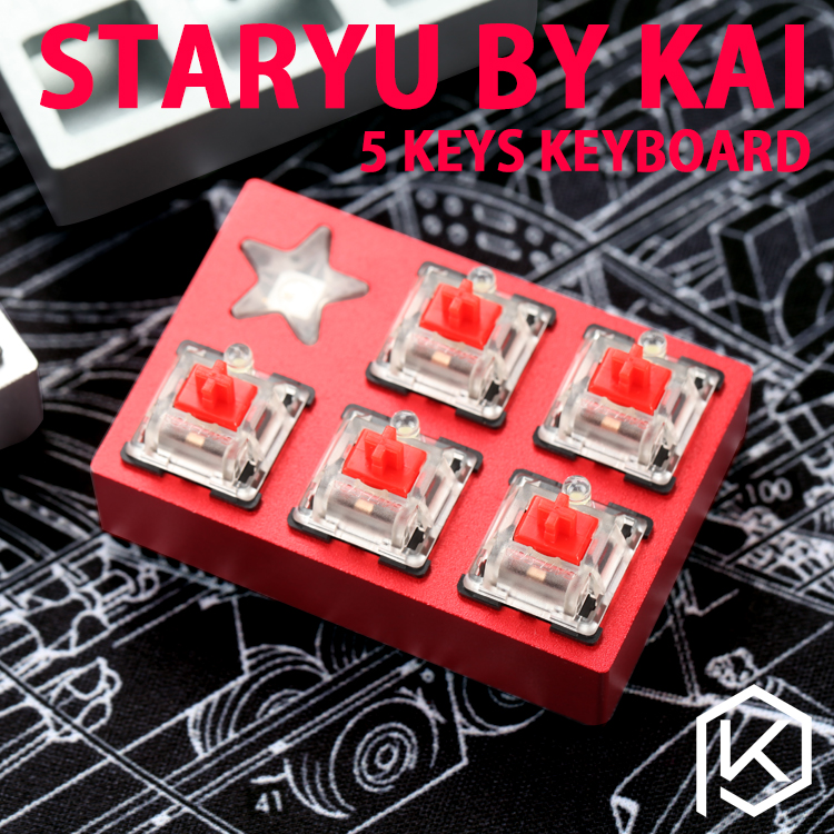 Staryu Mini Macro Pad Custom Keyboard By Tkg Kai Mini Macro Pad Mechanical Keyboard 5 Keys
