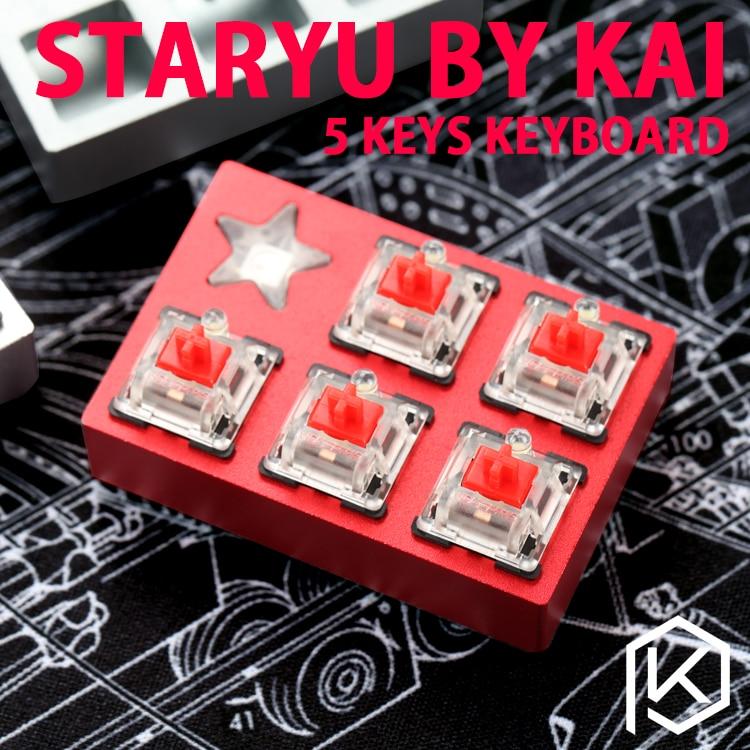 Staryu мини макро Pad пользовательские клавиатуры ТКГ Кай мини макро Pad механическая клавиатура 5 ключей