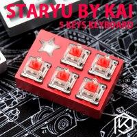 Staryu entwurfs-folio-ultra Mini Macro Pad benutzerdefinierte tastatur durch tkg kai Mini macro pad mechanische tastatur 5 tasten