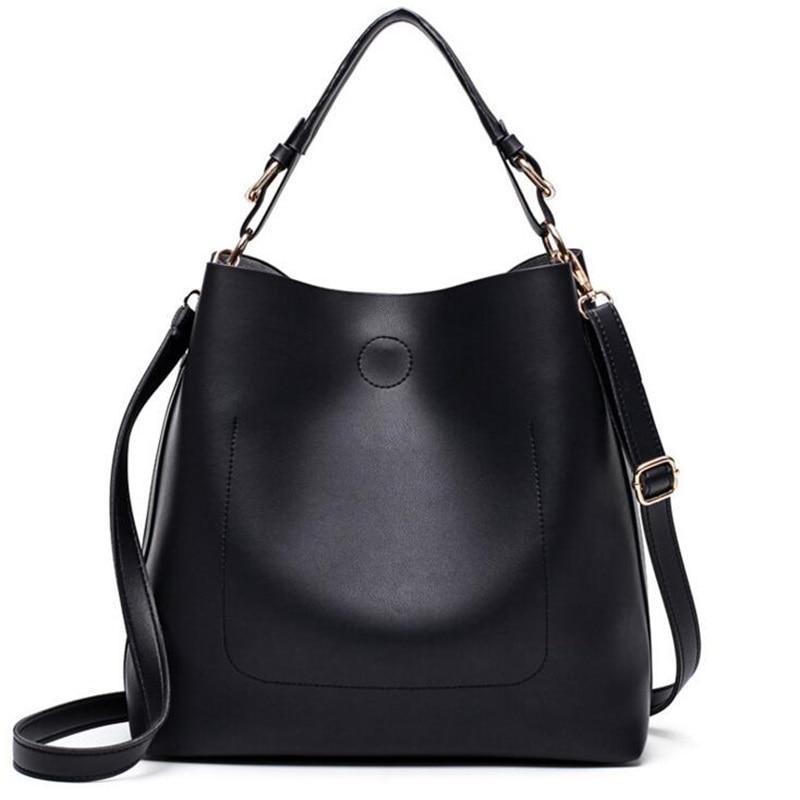 Women Leather Handbag Bucket Bag Big Tote Combined Bag Famous Brand Design Lady Shoulder Bag Sac A Main Dames Tassen