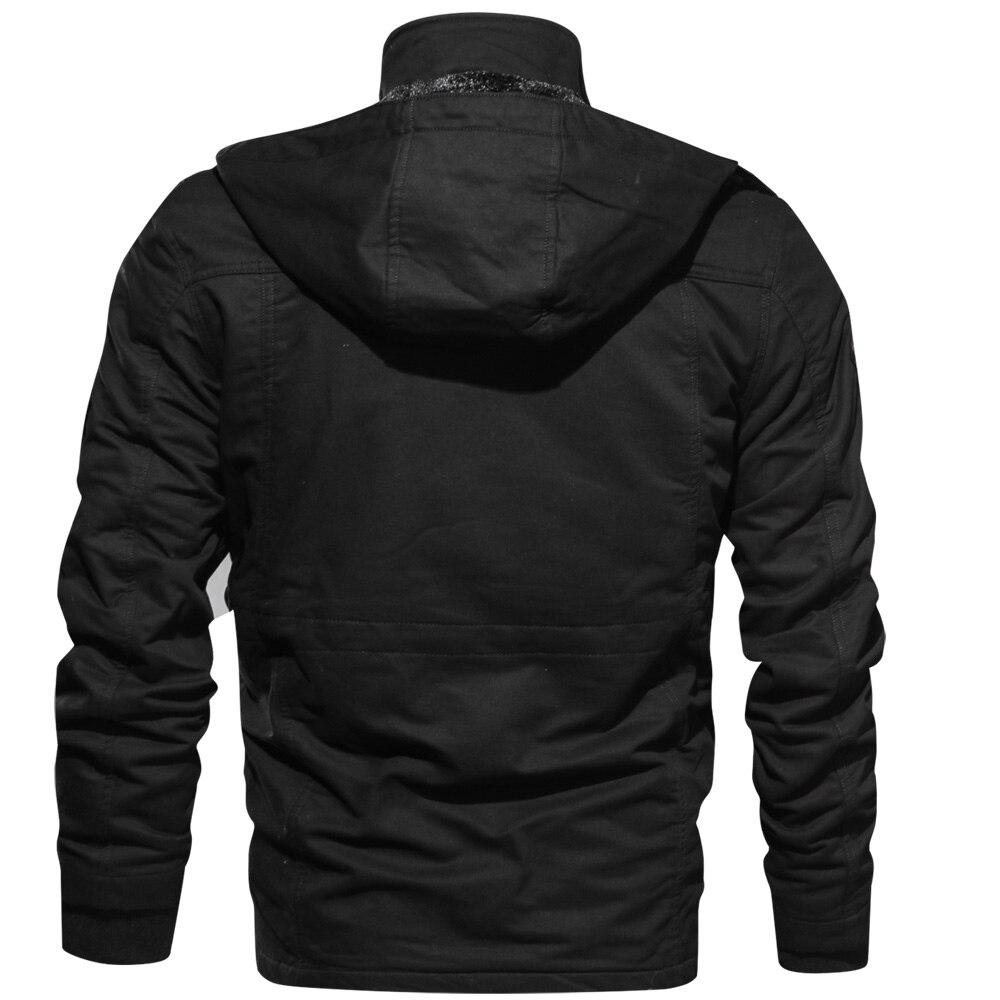 Brand Clothing Military Jacket Men Winter Thick Cargo Jacket Coat Thermal Fleece Pilot Jackets Plus Size 4XL Windbreaker Coat
