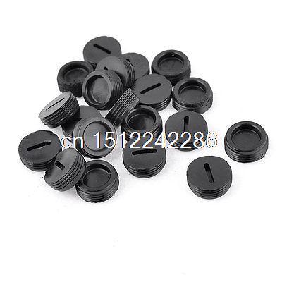20 Pcs Black Male Thread 14mm x 5mm Carbon Brush Holder Caps Covers
