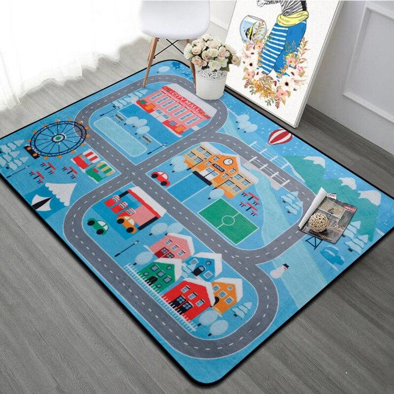Tapis de bande dessinée enfants chambre jouer jeu tapis de sol salon chambre ordinateur chaise petits tapis en plein air enfants jouer Rectangle tapis