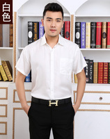 Blockbuster Sang Pu Sliver White Mulberry Silk Silk Short Sleeve Shirt 2016 Men S Leisure