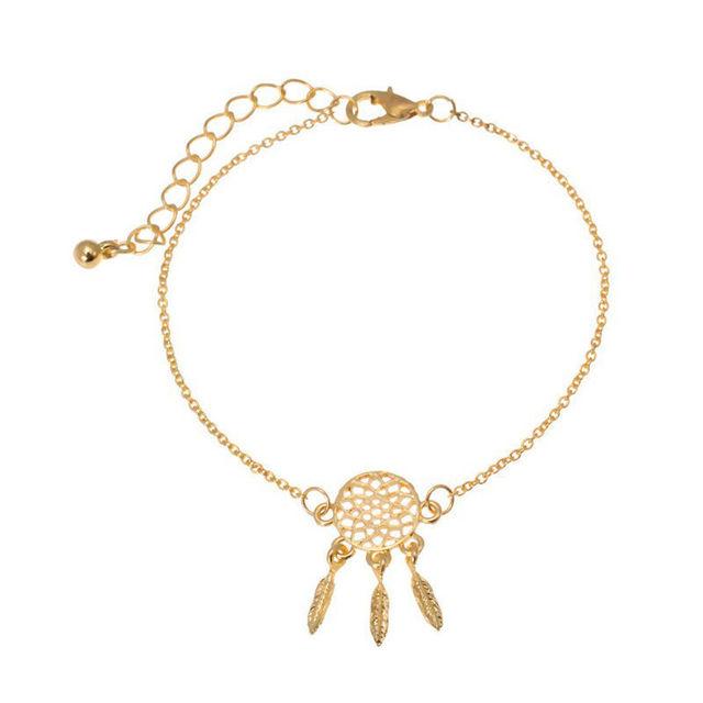 Ladies Silver Dream Catcher Charm Bracelet