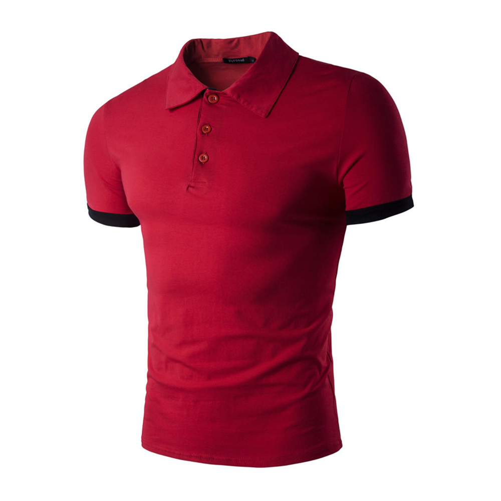 Men Polo Shirt Mens Solid Color Polo Shirts Men Business amp Casual Cotton Polo Shirt Short Sleeve Breathable Polo Shirt in Polo from Men 39 s Clothing