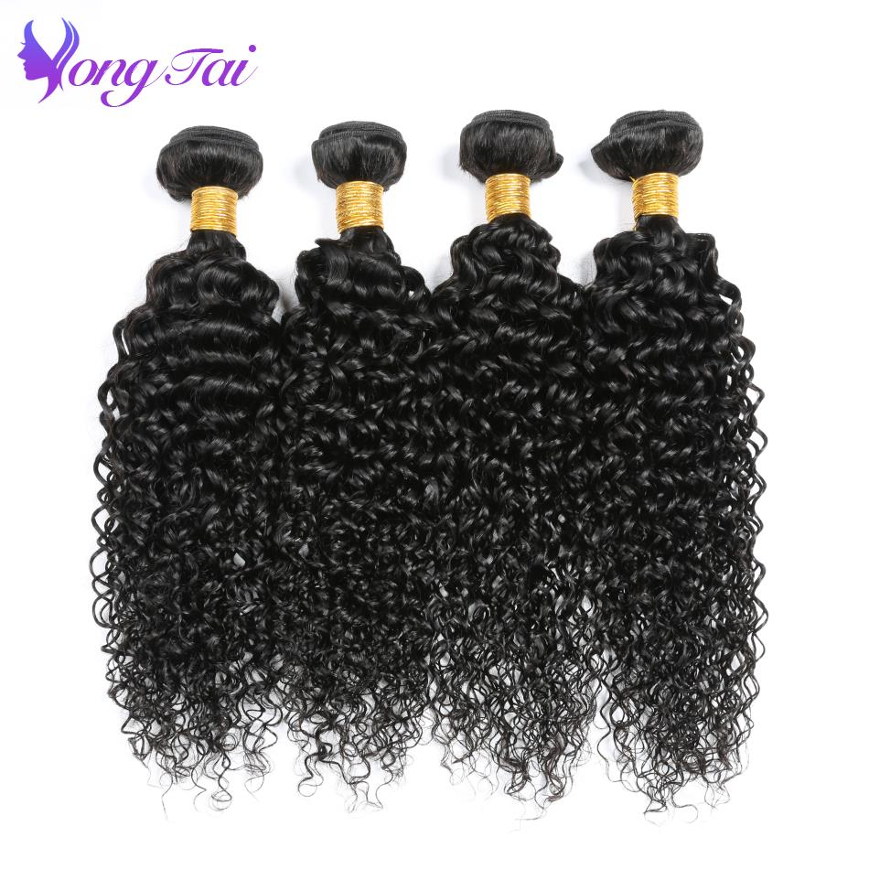 Yongtai Raw Indian Hair Afro Kinky Curly Hair Weave Bundles 100% Remy Human Hair Extensions 4Pcs Free Shipping Can Be Dyed