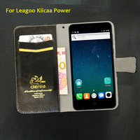 TOP New Leagoo Kiicaa Power Case 5 Colors Luxury Leather Case Exclusive Phone Cover Credit Card