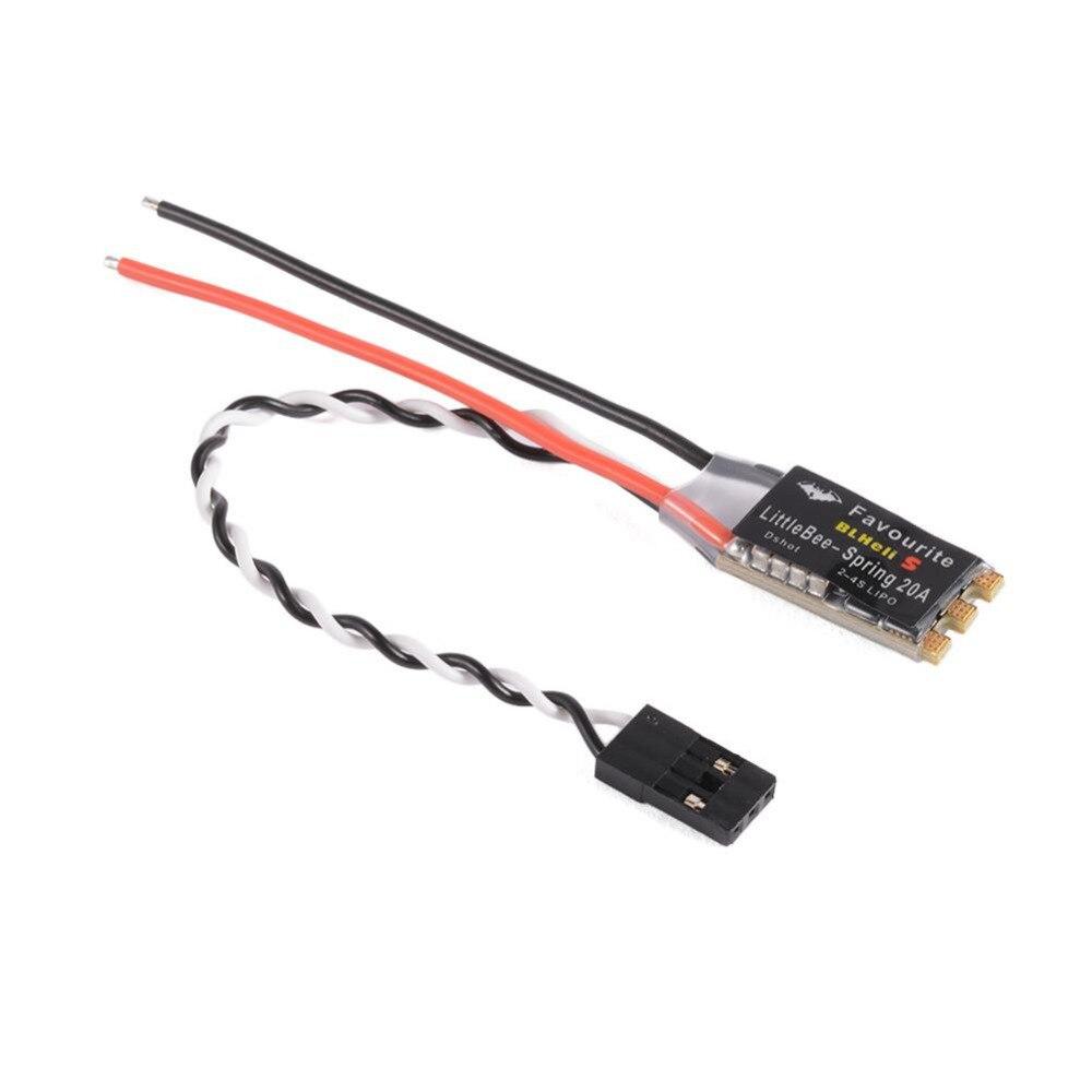 Para Littlebee 20A ESC Controlador Electrónico de Velocidad DShot BLHeli S 2-4 S