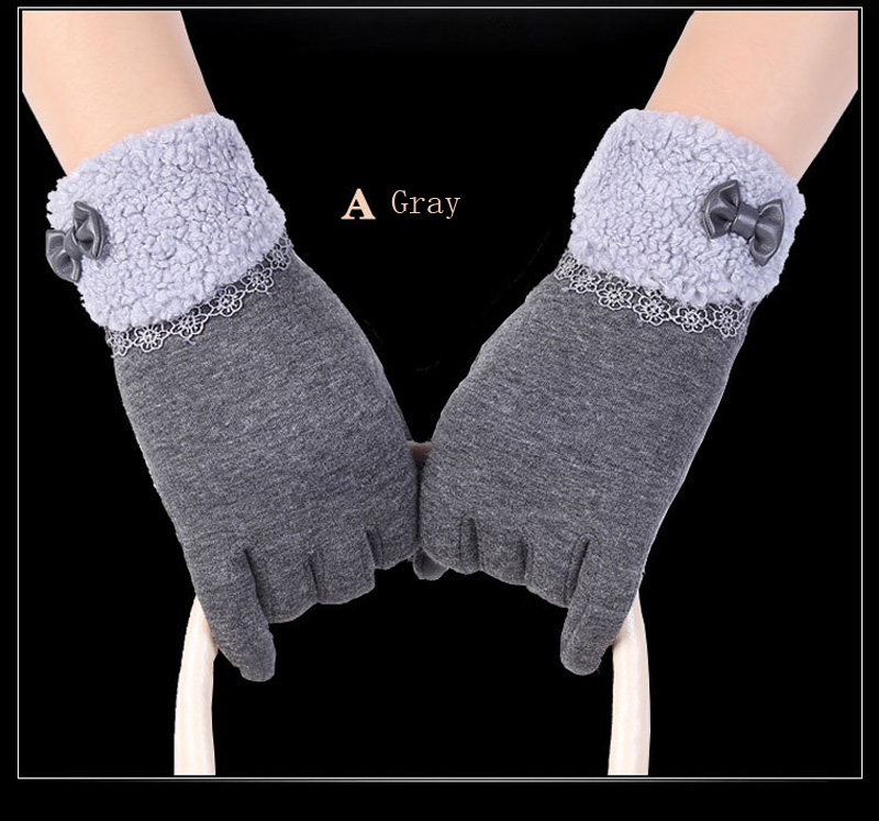 NIUPOZ Fashionable Women Touch Screen Gloves for Winter Made of Warp Knitted Velvet Material including Warm and Windproof Property 9