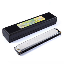 цена на Harmonica Tremolo 24 Hole Key Of C Play Harmonica Mouth Organ Double Row For Blues Jazz Rock Folk Musical Beginner Instrument