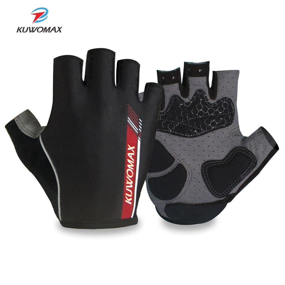 Женские и мужские велосипедные перчатки KUWOMAX, летние спортивные противоударные велосипедные перчатки с полупальцами, гелевые противоскользящие велосипедные перчатки для MTB, 2019 Перчатки для велоспорта      АлиЭкспресс