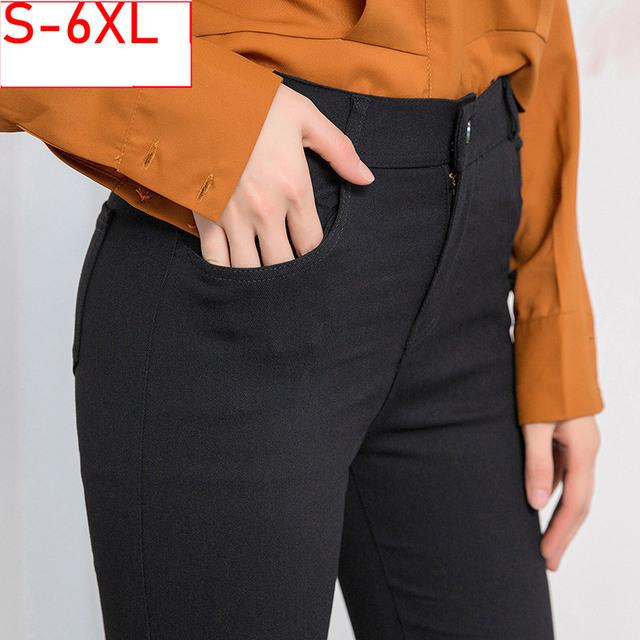 Black Women Skinny Jeans Woman High Waist Plus Size 5XL Slim Women's Jeans Large Size Denim Jeggings Stretch Jeans for Women