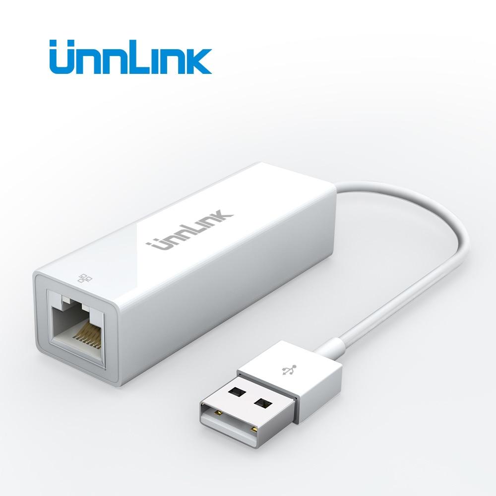 Unnlink USB Ethernet Adapter USB 2.0 100Mbps Gigabit RJ45 Lan USB Network Converter For Computer Laptop Notebook Mi Box