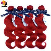 Remy Blue Red Hair Bundles Indian Body Wave 99J Burgundy Bundles Human Hair Bundles Double Welf 100% Remy Hair Weave Extensions