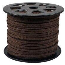 3 мм плоский шнур из искусственной замши шнурок кожаный шнур плоская веревка для модных мешки для браслетов Бахрома Кисточкой делая оптом