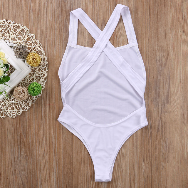 2019 New Women Solid Back Cross One piece Suit Swimsuit Bikini 2019 Swimwear Women Push Up Padded Swimsuit Bathing suit Monokini